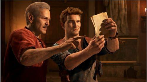 Nova imagem do filme de Uncharted mostra Sully e Nathan Drake juntos