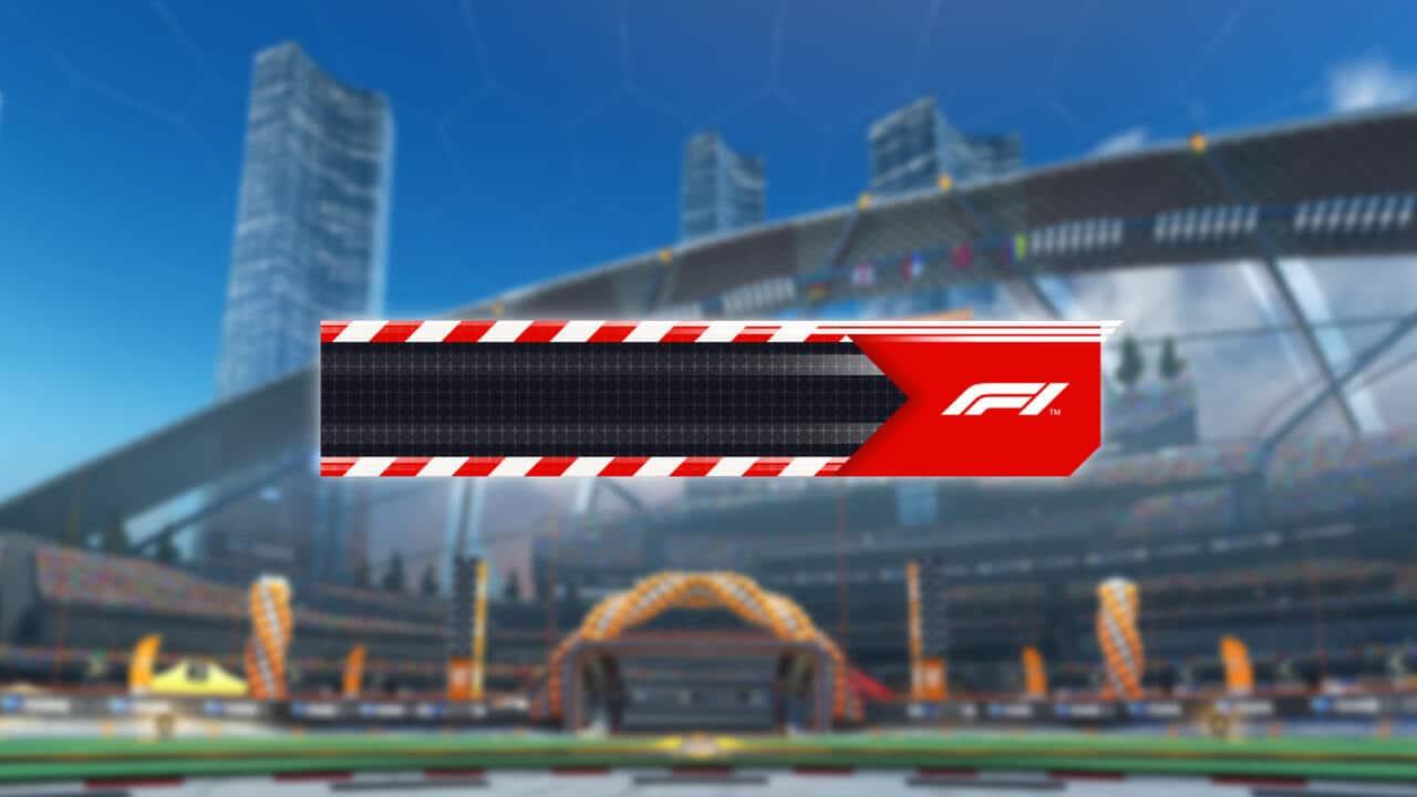 Imagem do banner gratuito do crossover entre Fórmula 1 e Rocket League