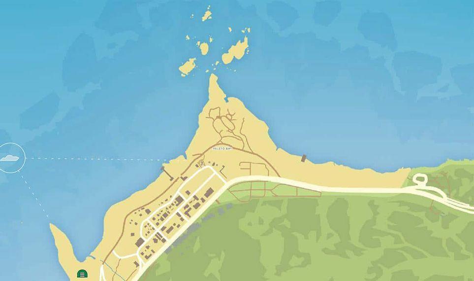 Mapa de Los Santos, cidade fictícia do jogo GTA V.