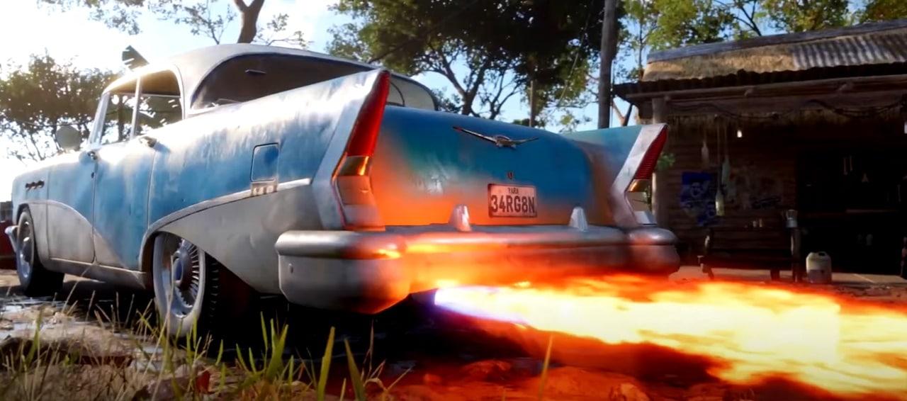 Carros disponíveis no Gameplay de Far Cry 6.