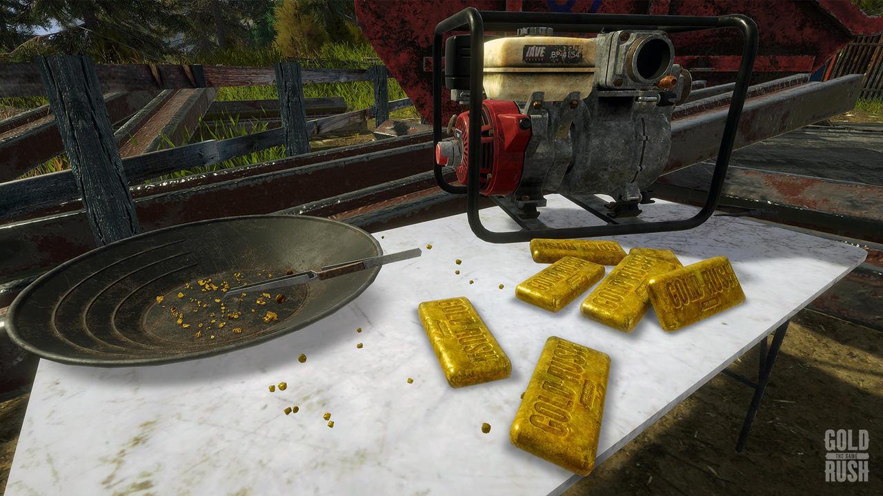Imagem de ouros extraídos no jogo Gold Rush: The Game