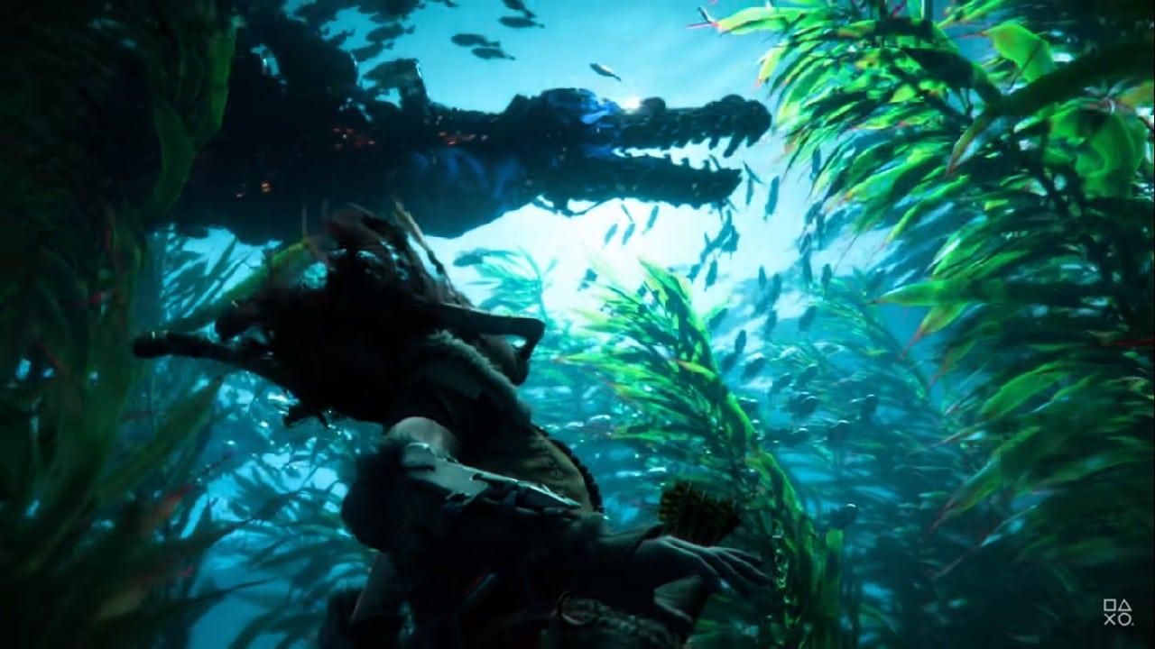 Horizon Forbidden West - Aloy embaixo d'água