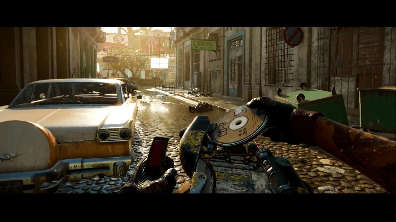 Imagem do gameplay de Far Cry 6 de um lançador de discos