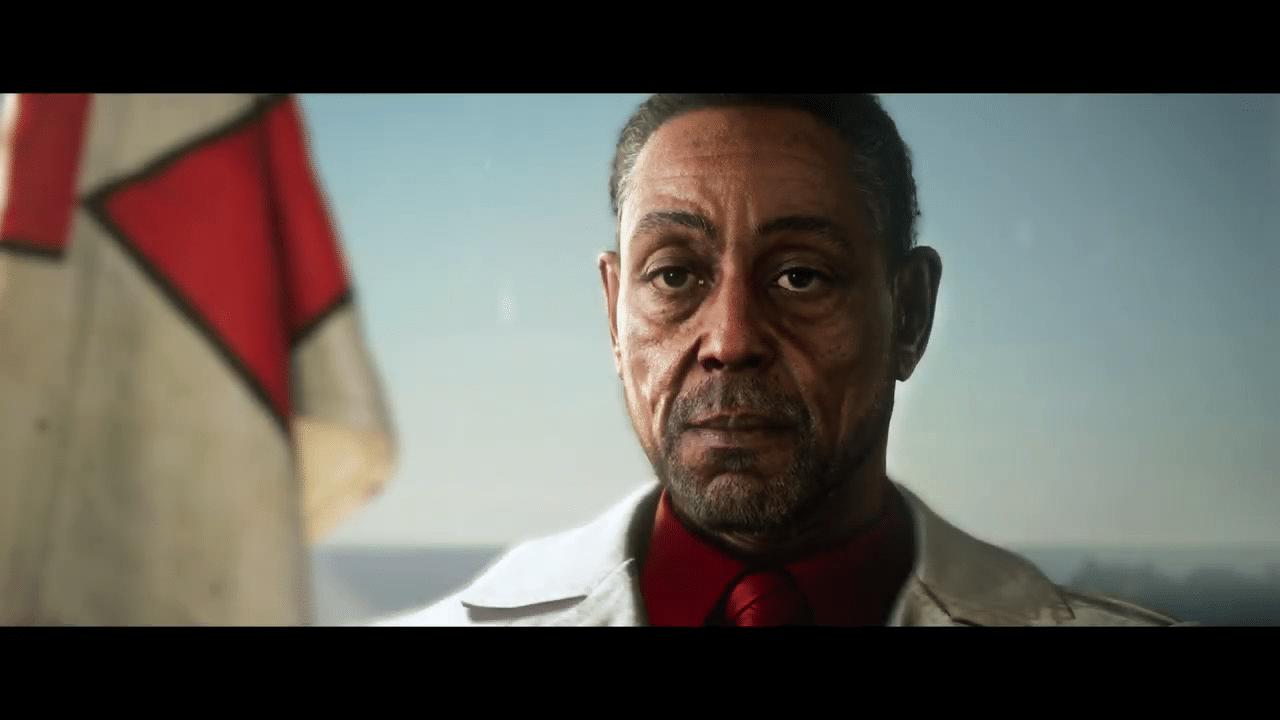 Imagem do gameplay de Far Cry 6 do vilão do game, o ditador Castillo