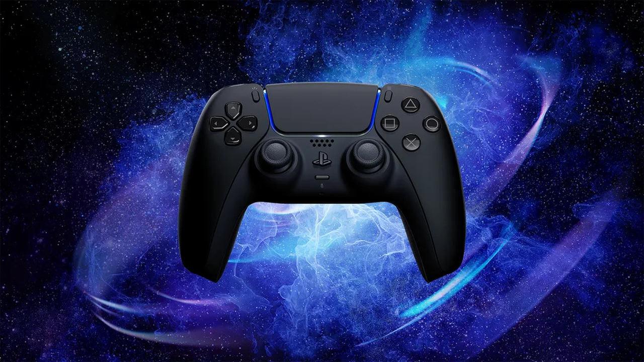 Imagem de uma das novas cores do controle DualSense, Midnight Black