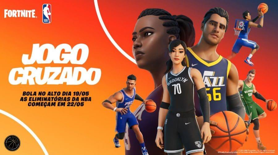 Fortnite x NBA: crossover leva uniformes dos 30 times ao battle royale
