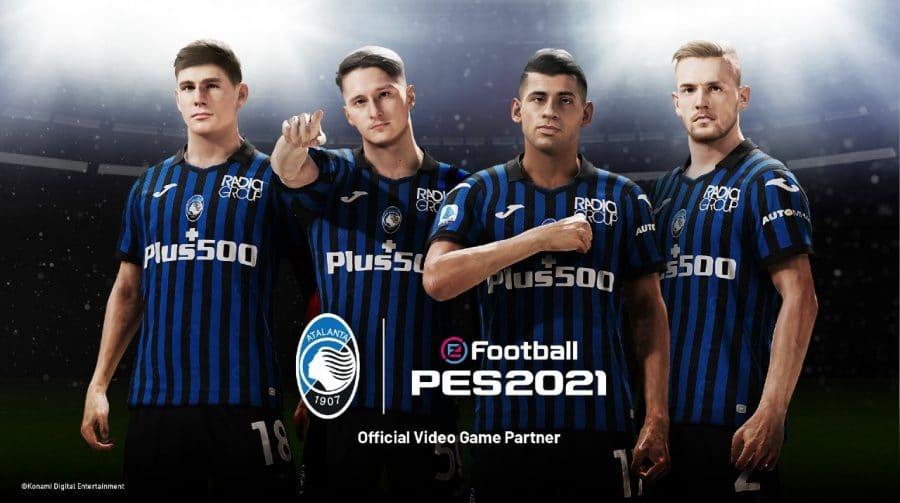 Atalanta é mais uma equipe da Itália a ser exclusiva de eFootball PES