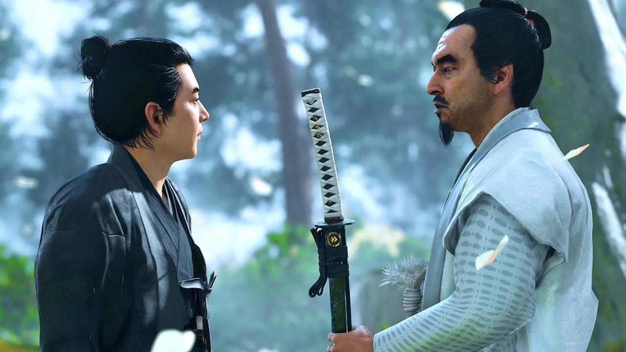 Jin Sakai e Lorde Shimura - Influência da Arte de Akira Kurosawa em Ghost of Tsushima