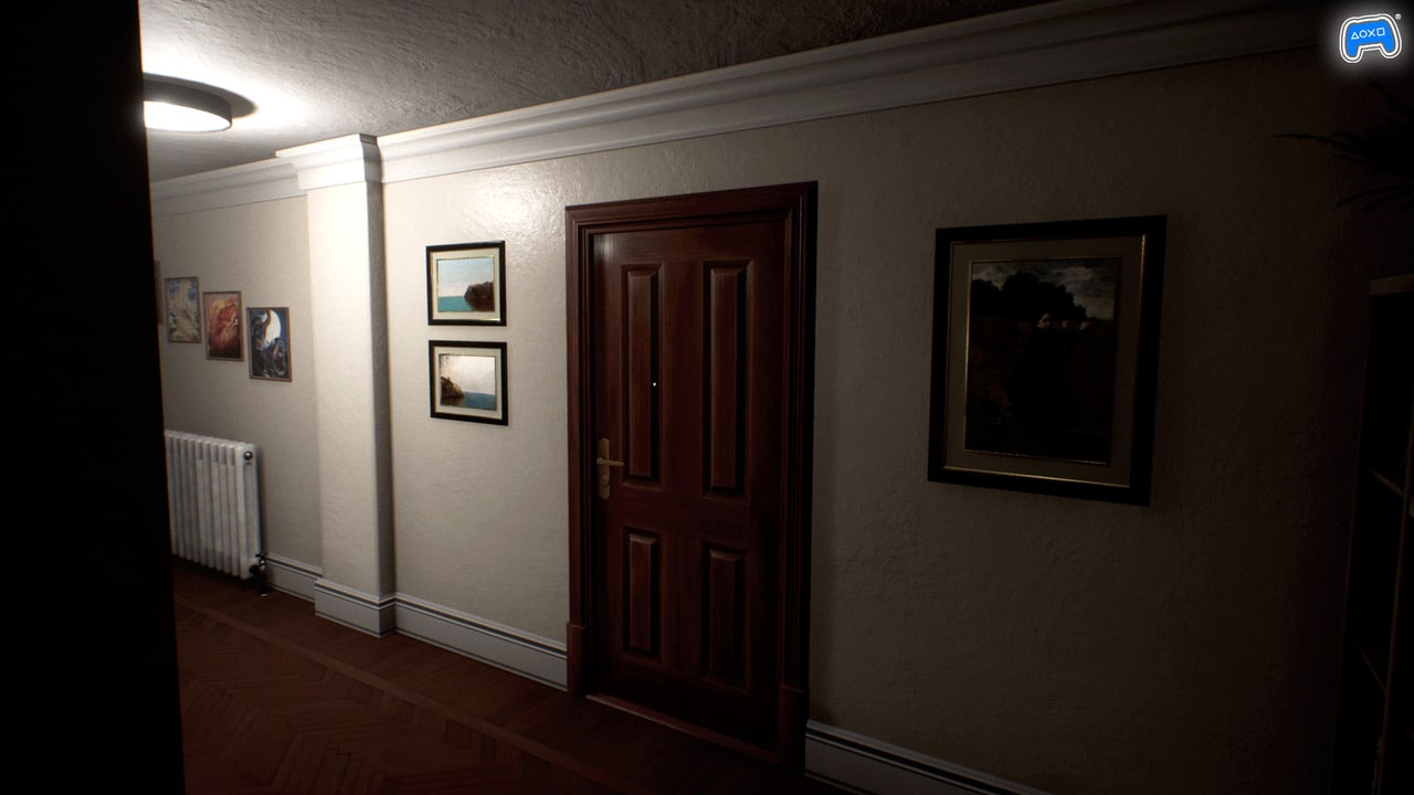 Imagem de Luto, jogo de terror psicológico, com destaque para a porta de uma casa