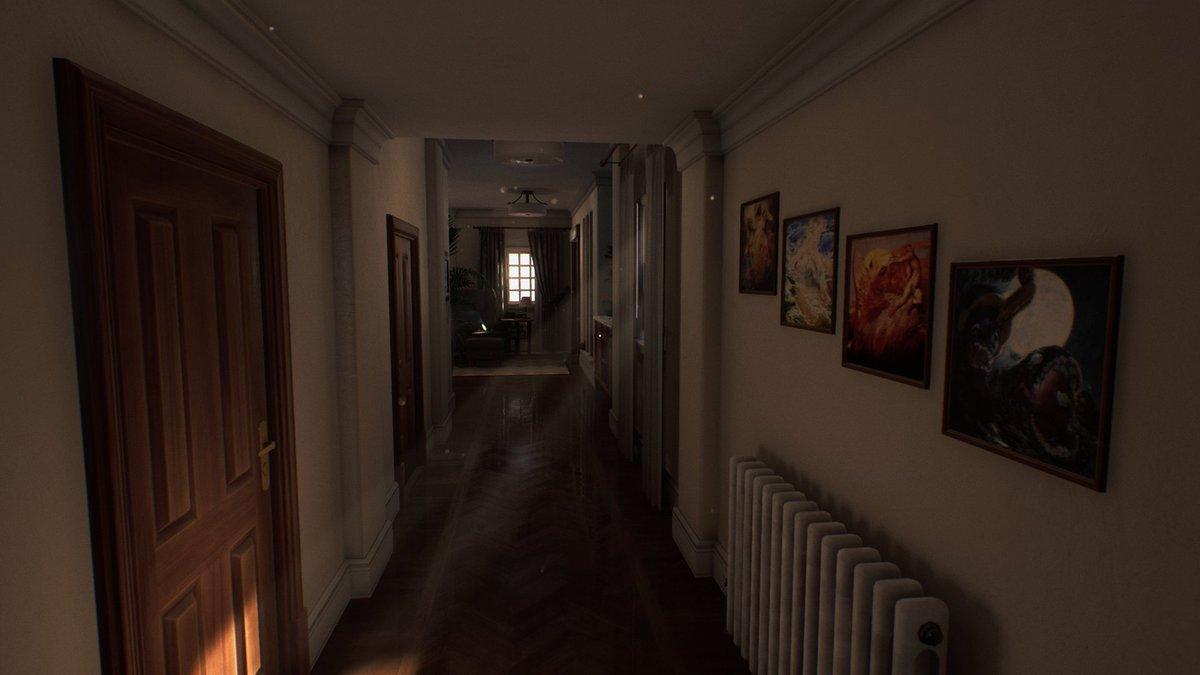 Imagem de Luto, jogo de terror psicológico, de um corredor de uma casa