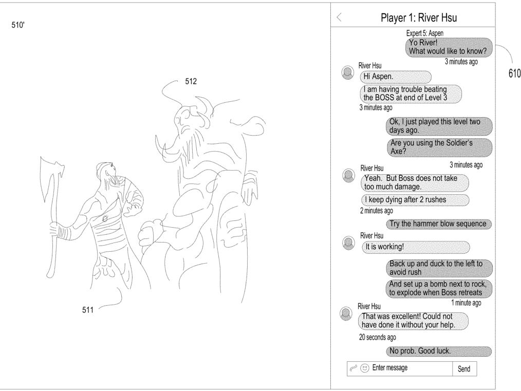 Imagem de patente da Sony, onde Kratos enfrenta um chefe