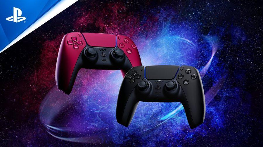 Sony apresenta duas novas cores do DualSense: Midnight Black e Cosmic Red