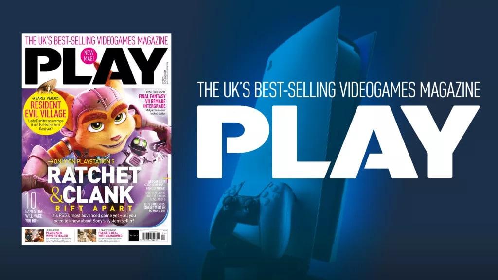Imagem com a primeira edição da PLAY, que substituirá a Revista Oficial da PlayStation, com o protagonista do novo Ratchet & Clank como destaque a logo da nova revista ao lado