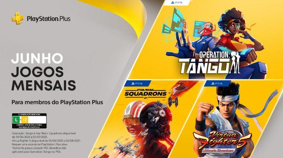PS Plus de Junho de 2021 terá Star Wars Squadrons, Operation: Tango e Virtua Fighter 5