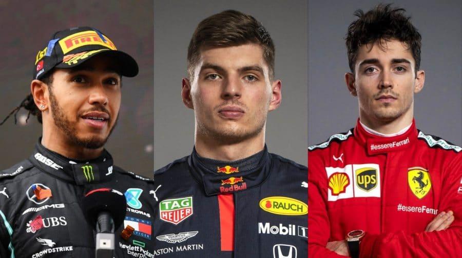 Lewis Hamilton, Max Verstappen e Charles Leclerc estrelarão a capa de F1 2021