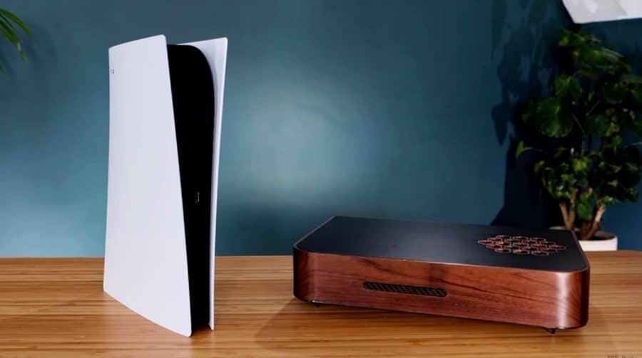 Rústico! Jogador cria uma carcaça de madeira diferenciada para o PS5
