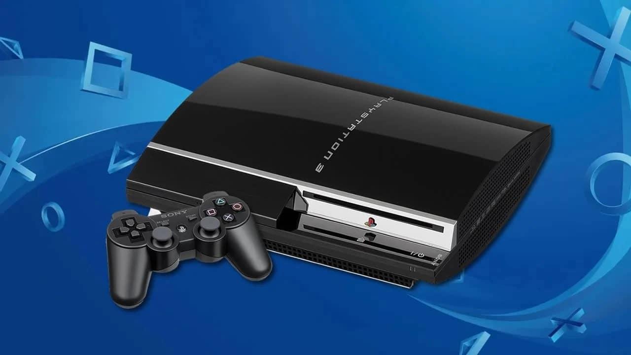 PlayStation mais vendidos - PS3 com fundo azul