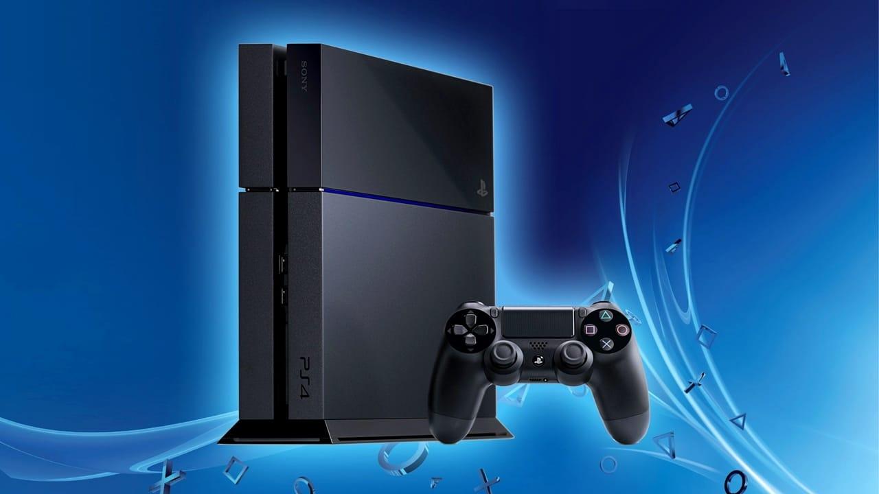 PlayStation mais vendidos - PS4 com fundo azul