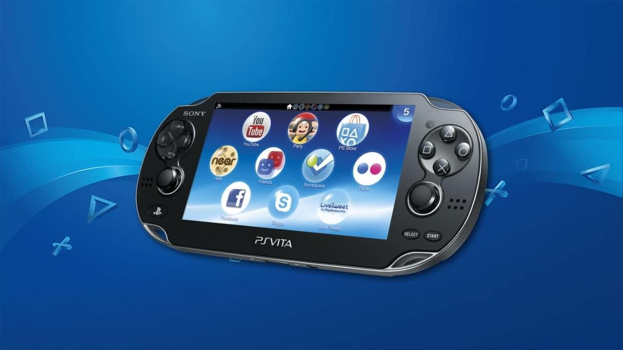 PlayStation mais vendidos - PS VITA com fundo azul