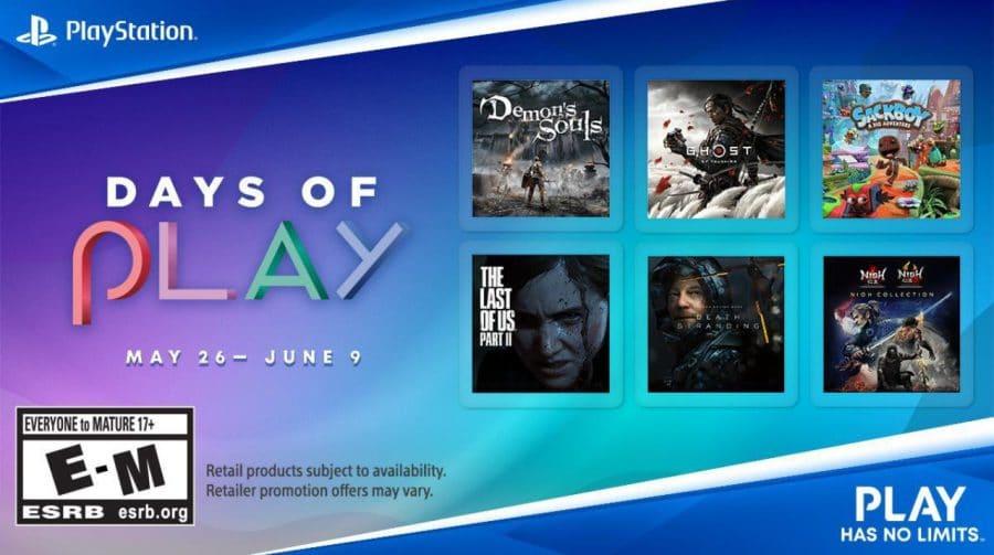 Promoção do Days of Play: jogos de PlayStation entram em desconto a partir do dia 26