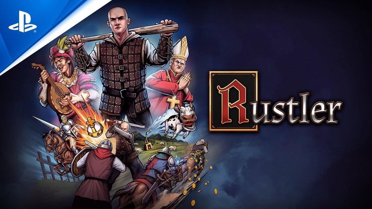 Imagem que mostra a logo do jogo Rustler utilizada para anunciar a data de lançamento de Rustler