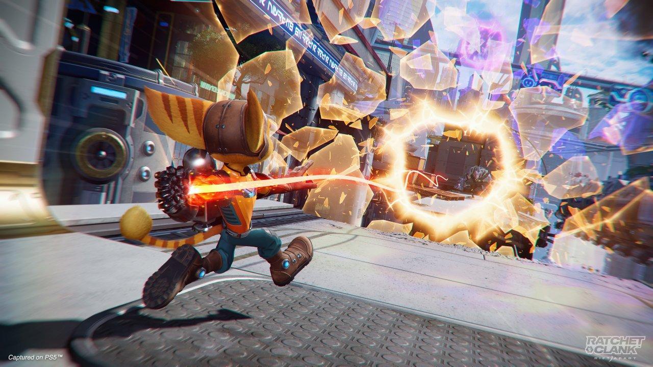 Ratchet & Clank: Em Uma Outra Dimensão - Ratchet ativando portal