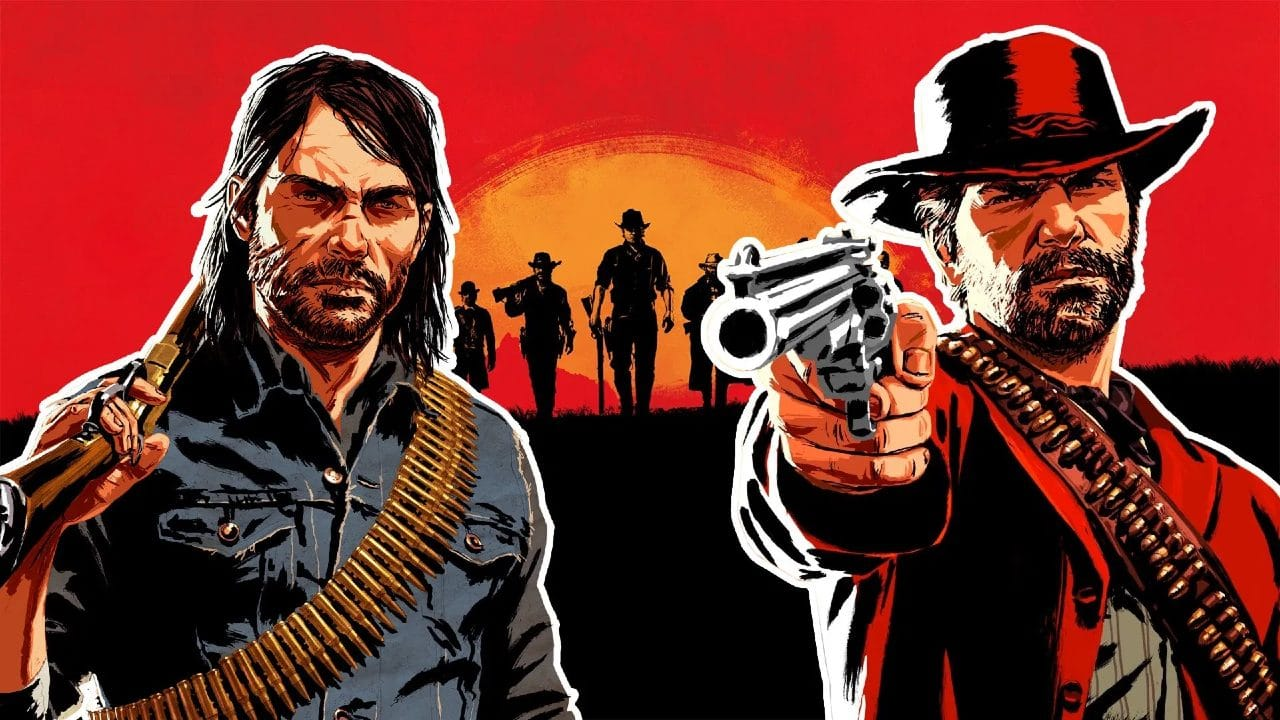 Red Dead Redemption e Red Dead Redemption 2 - Arthur e John - Top 10 jogos de mundo aberto do PlayStation
