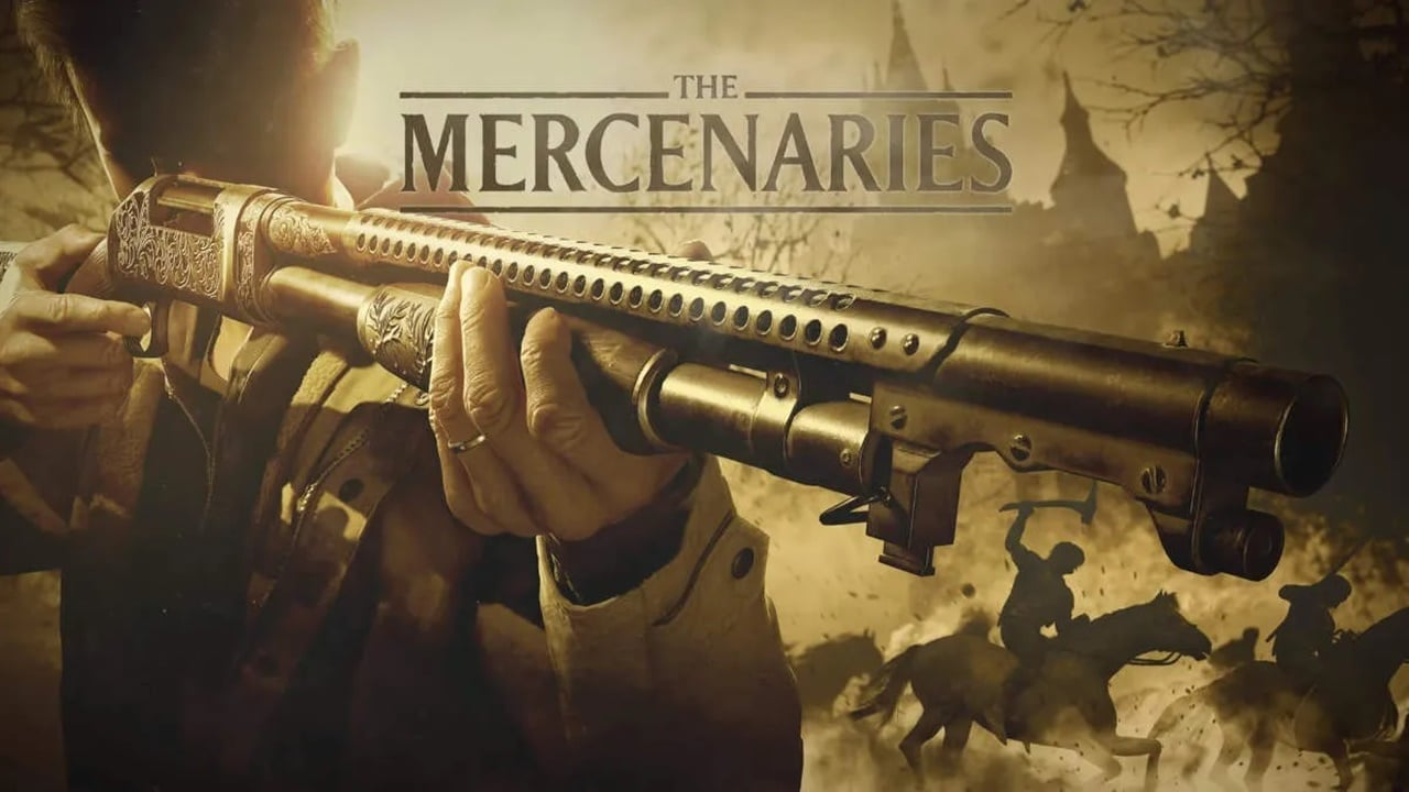 """Imagem da logo de """"Os Mercenários"""", modo extra de Resident Evil Village"""