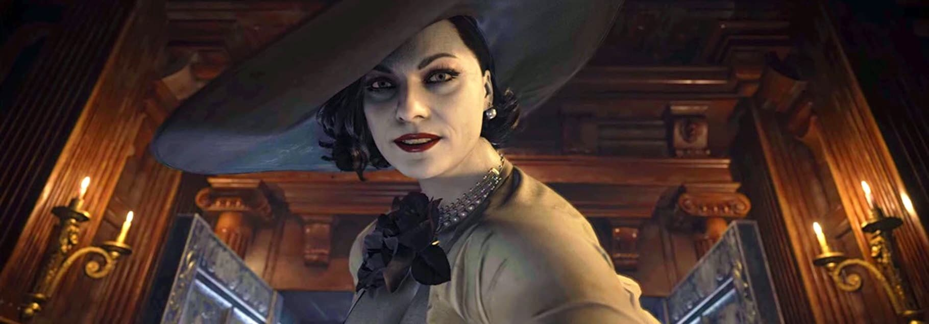 Lady Dimitrescu de Resident Evil Village.