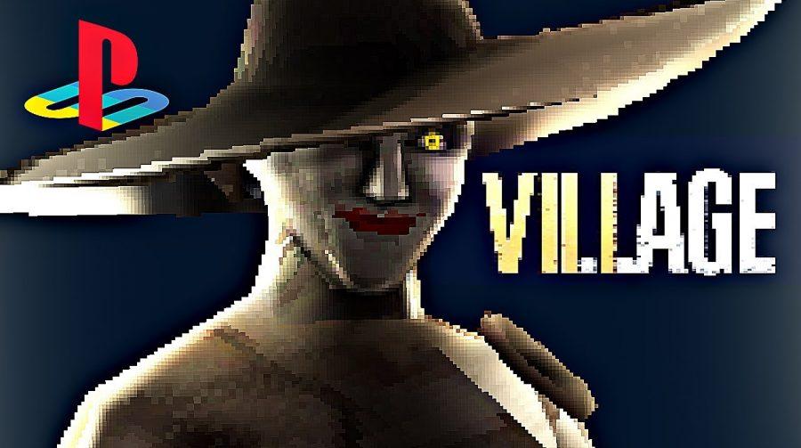 Como seria Resident Evil Village no PS1? Fã faz