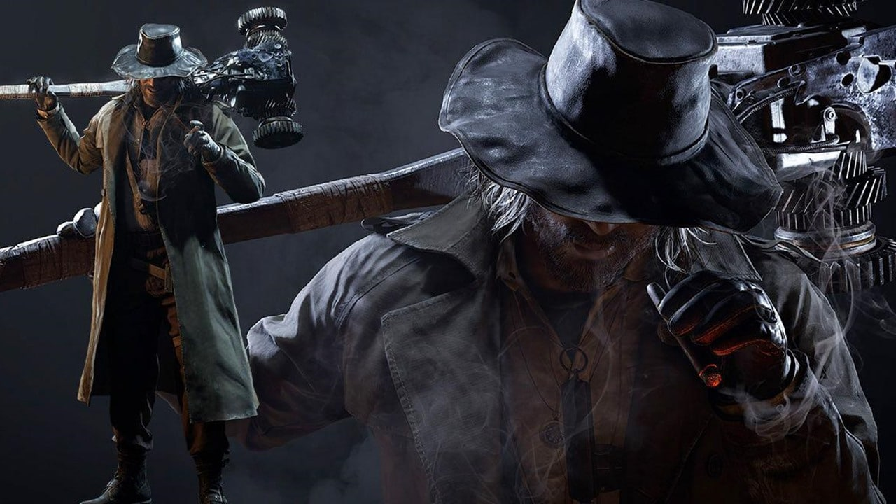 Karl Heisenber, vilão de Resident Evil Village segurando uma marreta gigante nos ombros
