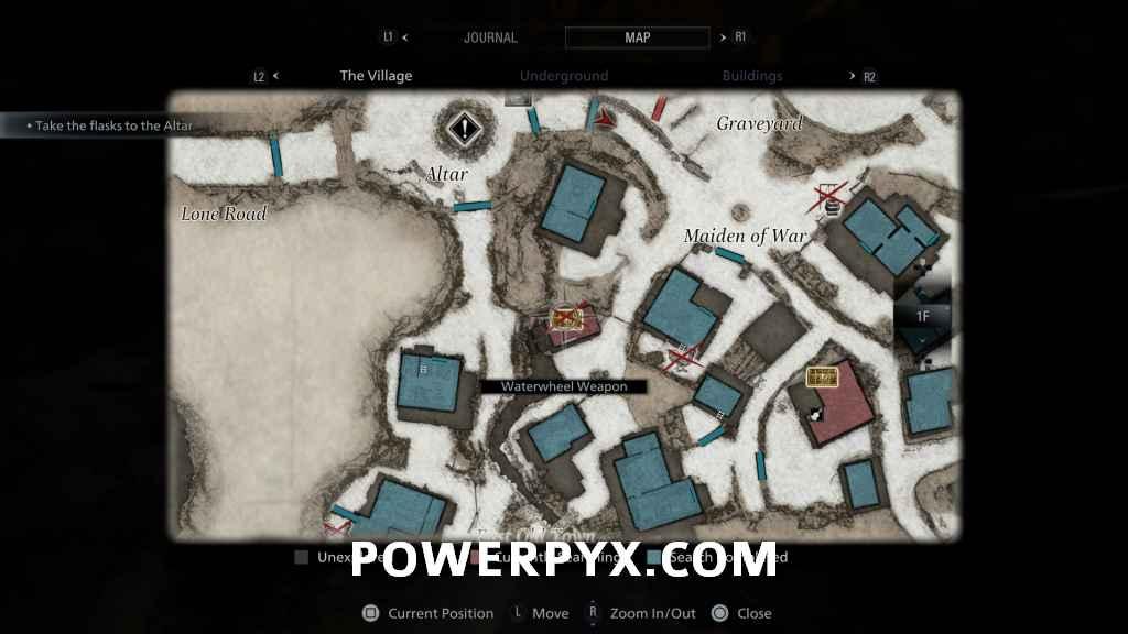 Imagem do mapa dos tesouros de Resident Evil Village