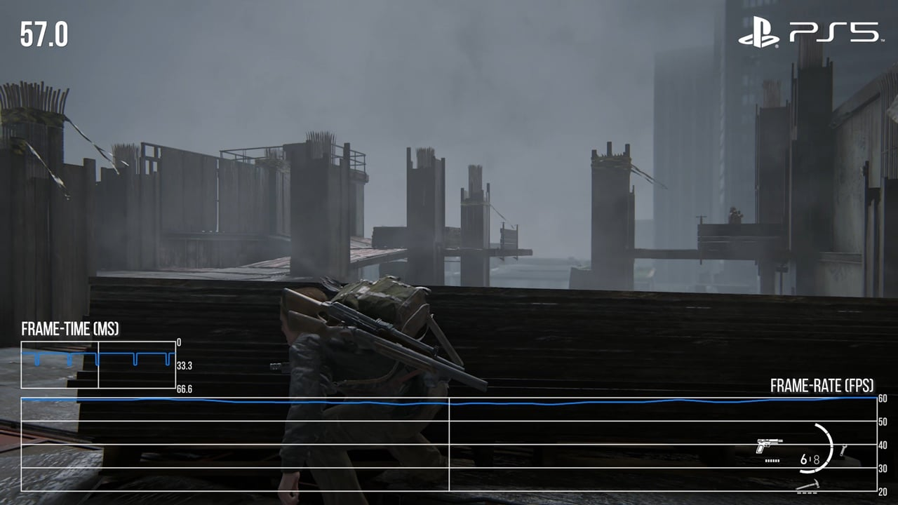 Abby, de The Last of Us 2, em análise da Digital Foundry sobre o patch que desbloqueia 60 FPS do game.