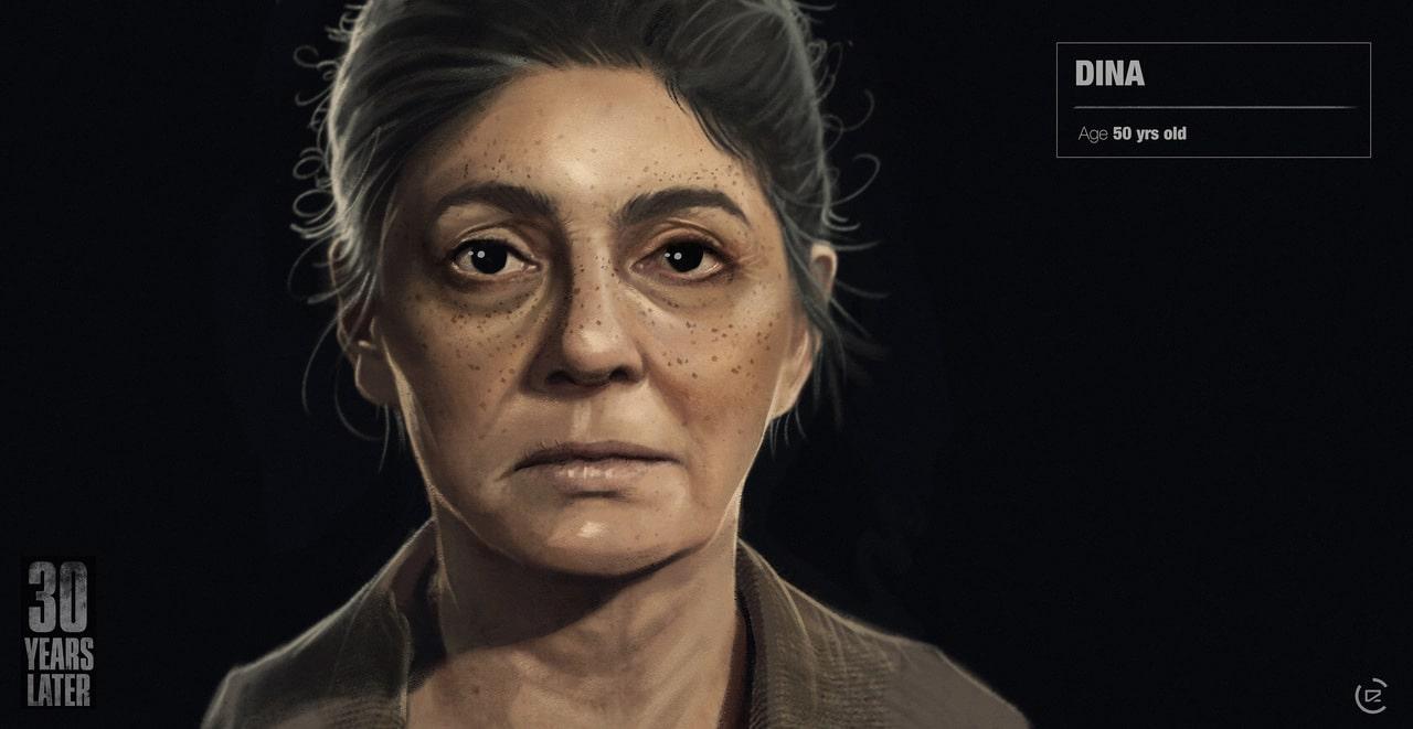 Imagem de capa da Dina de The Last of Us 2 com uma versão mais velha