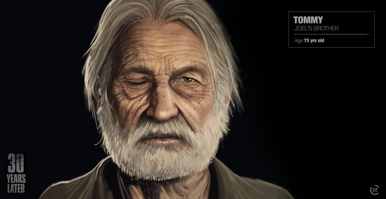 Imagem de capa de Tommy de The Last of Us 2 com uma versão mais velha