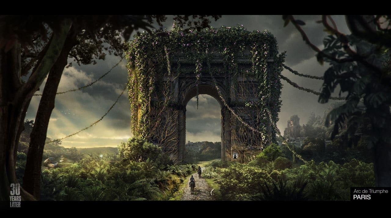 Imagem da matéria de The Last of Us 2 com Paris reimaginada em um cenário apocalíptico