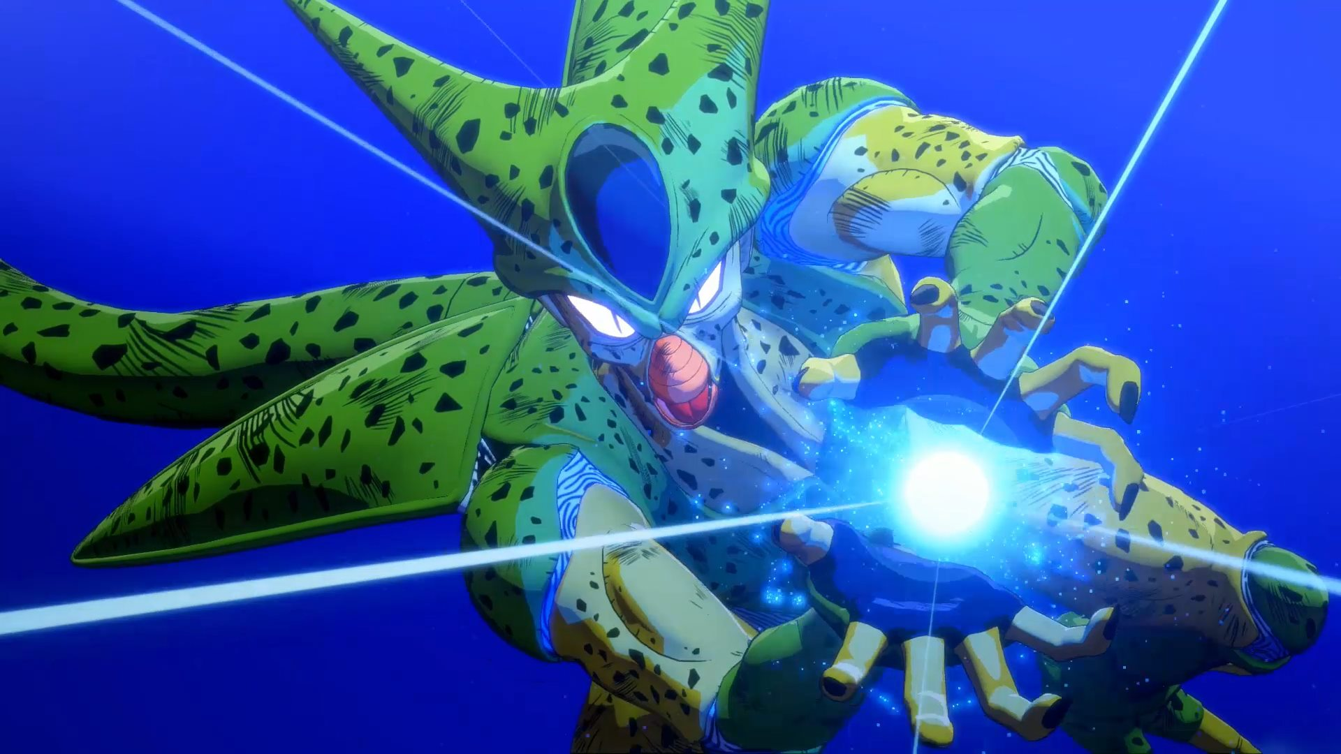 Imagme do vilão Cell no DLC de Dragon Ball Z: Kakarot