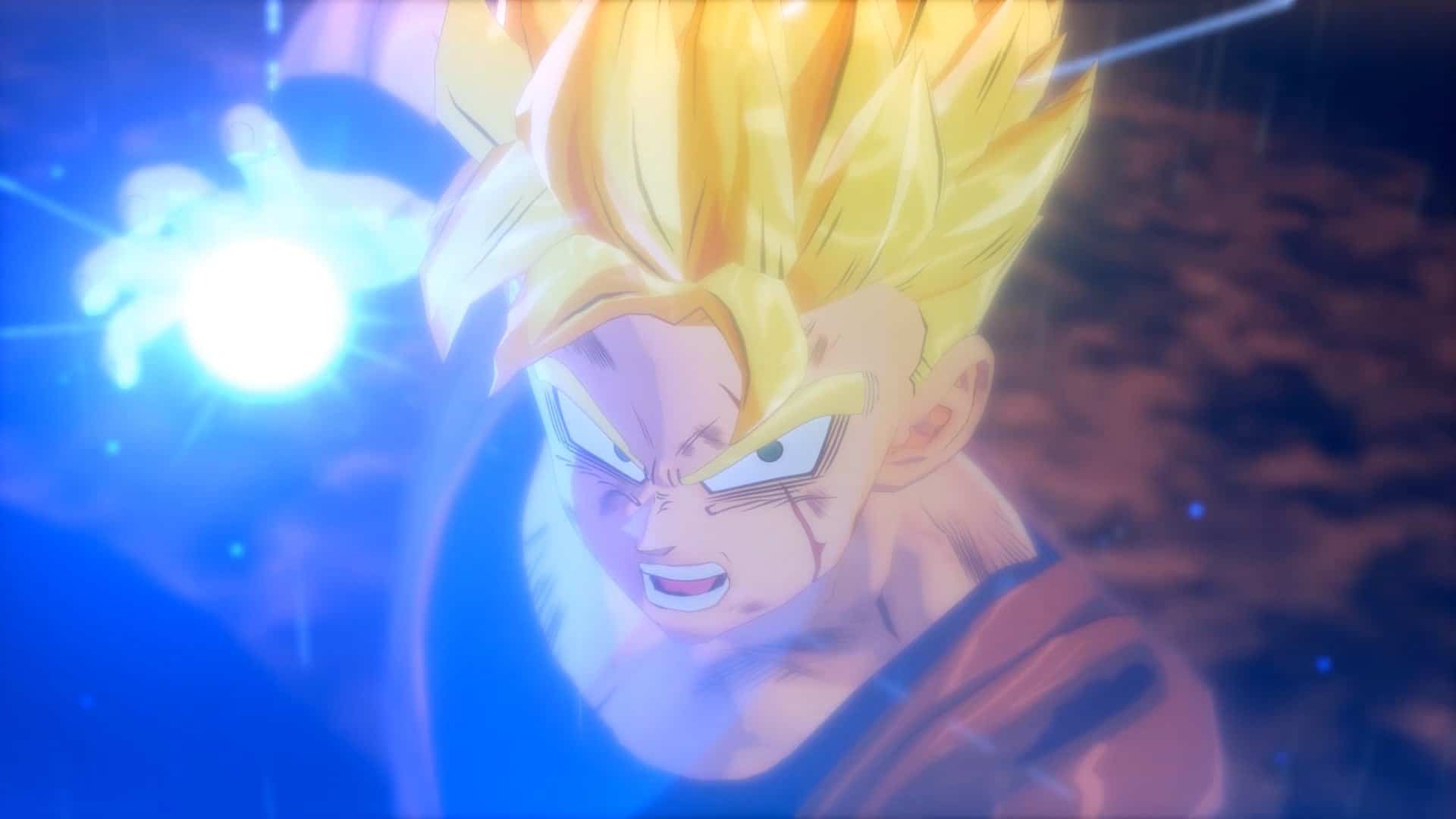 Imagem de Gohan como Super Sayajin no DLC de Dragon Ball Z: Kakarot