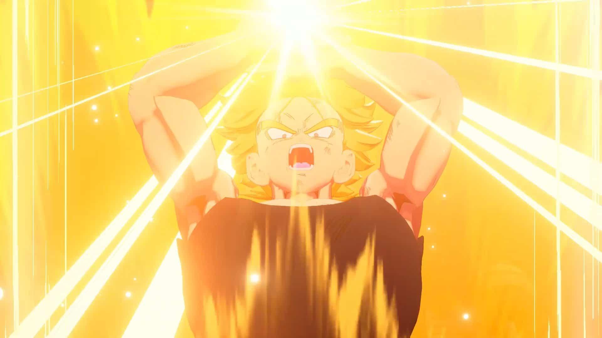 Imagem de Trunks em Super Sayajin no DLC de Dragon Ball Z: Kakarot