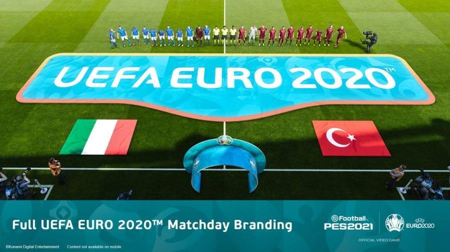 PES 2021: UEFA EURO 2020 chega com muitos conteúdos no Data Pack 6.0