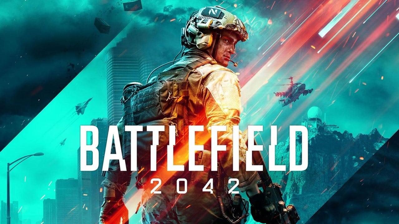 Soldado na capa de Battlefield 2042.
