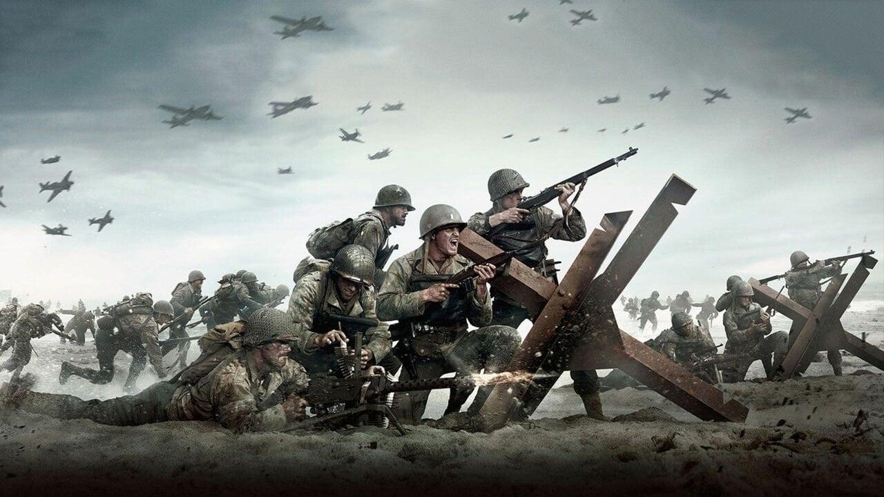 Campo de batalha da segunda guerra mundial, do dame Call of Duty.