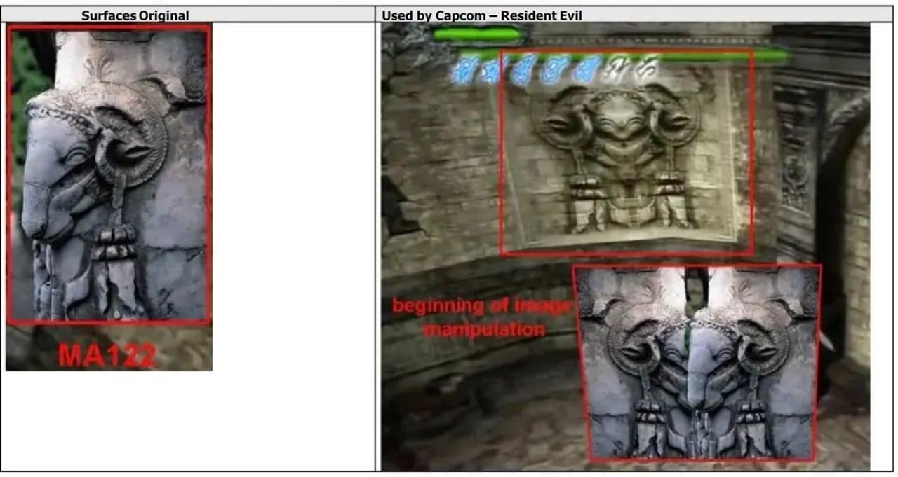 Texturas da Capcom usada em jogos.