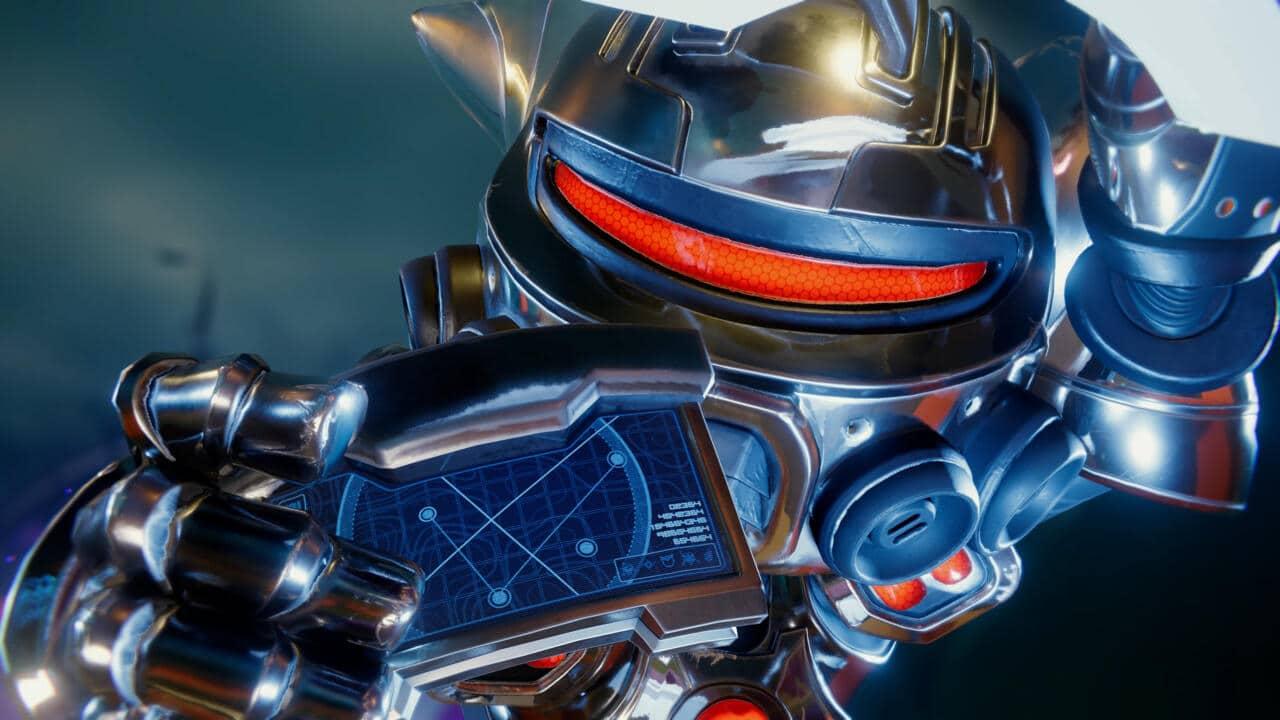 Imagem da matéria de dicas de Ratchet & Clank com o protagonista em uma armadura com a mão na cabeça