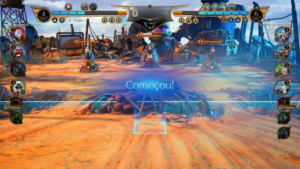 Imagem do jogo Final Fantasy VII Remake Intergrade com o início do minigame Fort Condor