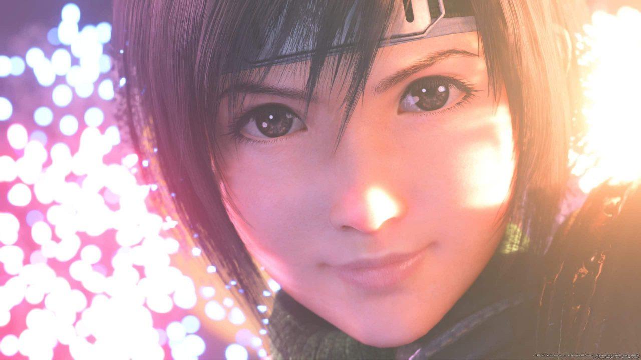 Imagem do jogo Final Fantasy VII Remake Intergrade com o rosto da Yuffie em destaque