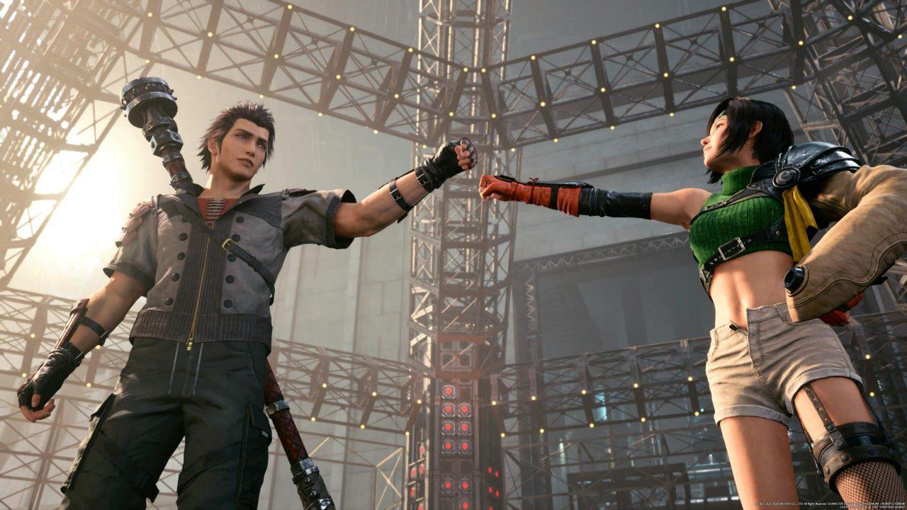 Imagem do jogo Final Fantasy VII Remake Intergrade dos dois principais personagens do DLC
