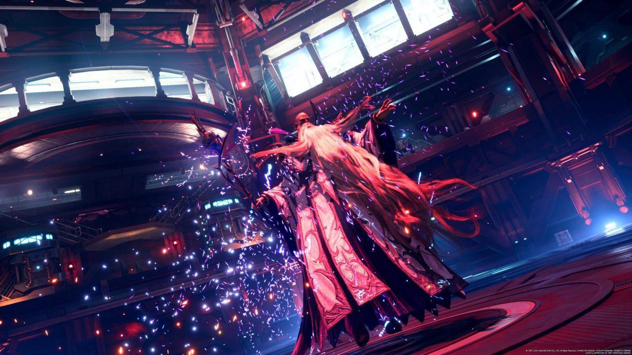 Imagem do jogo Final Fantasy VII Remake Intergrade com a nova invocação em destaque