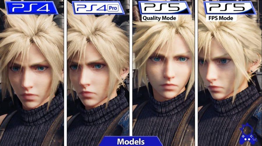 Compare as versões de PS4 e PS5 de Final Fantasy VII Remake