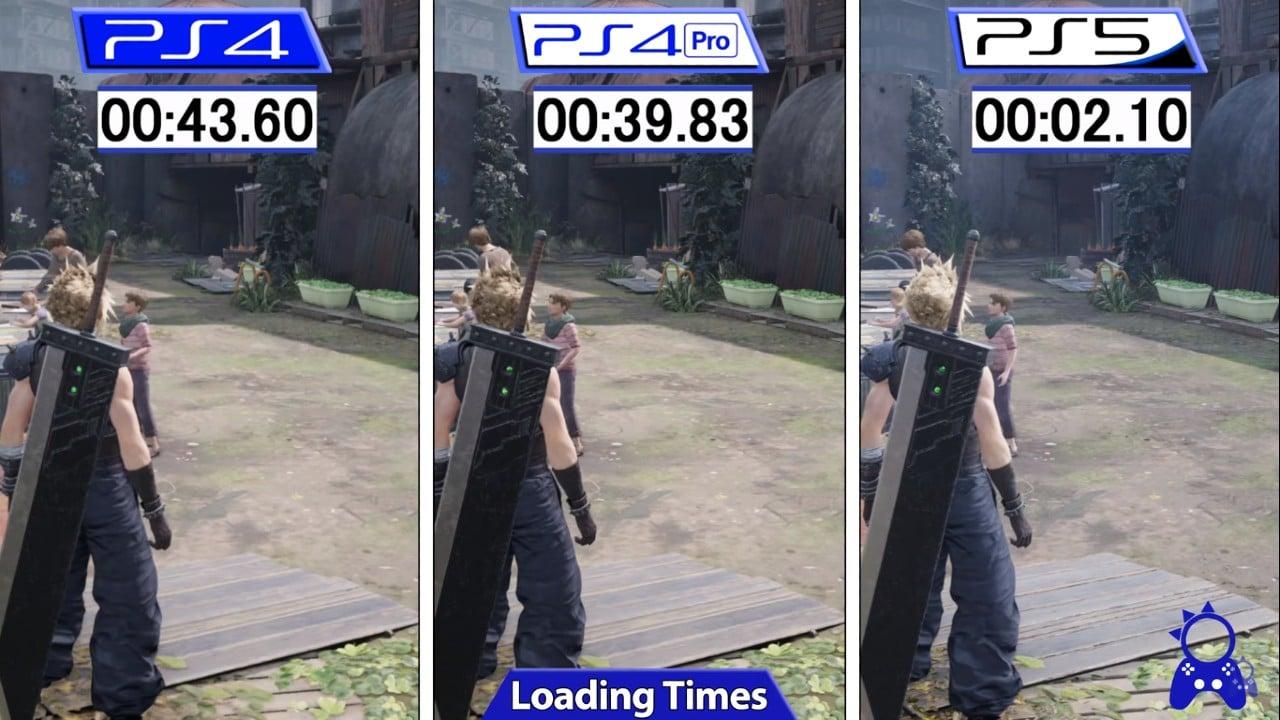 Final Fantasy VII Remake Intergrade - Tempos de Carregamento